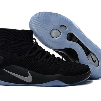 "Nike Hyperdunk Flyknit  ""Silver Gray Storm""Basketball Shoes"