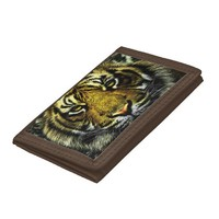 Tiger Trifold Wallets