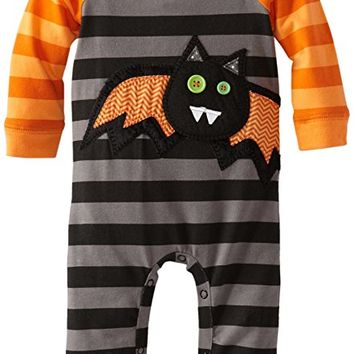 Baby-Girls Newborn Bat One Piece Cotton Sleeper, Multi, 0-6 Months