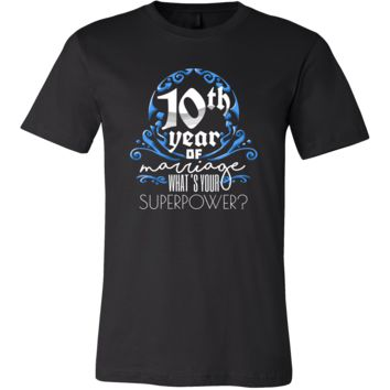 Anniversary Gift 10th, 10 Years Of Marriage, Couples T-Shirt