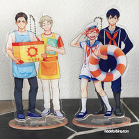 Haikyuu!! Job AU Acrylic Standees from made by BING