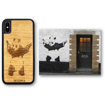 Slim Wooden Phone Case | Banksy Bad Panda