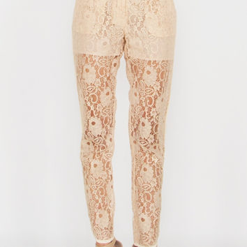 Sugar Lips All About that Lace Jogger Pants