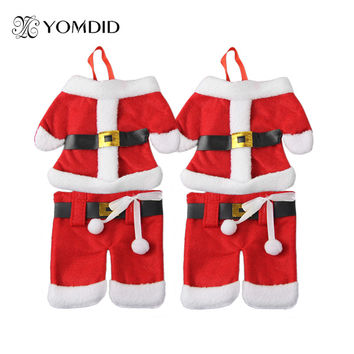 6Pcs Christmas Decorations Santa Silverware Holders   Christmas ornaments for tables new year Home Decor