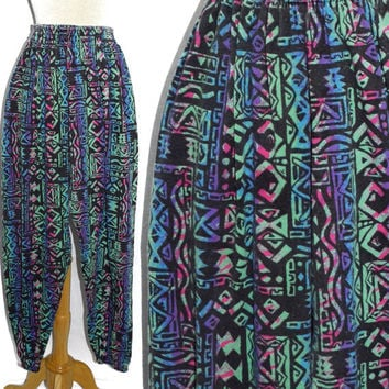 Vintage 80s Michael Scott Surfer Skater Muscle Workout Commando Graffiti Pants