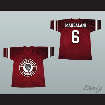 Danny Mahealani 6 Beacon Hills Cyclones Lacrosse Jersey Teen Wolf TV Series