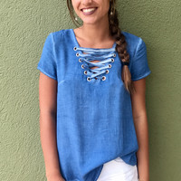 Baby Blues Top - Blue