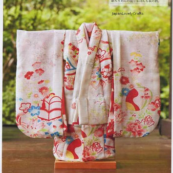 Doll Kimono Patterns - Japanese Craft Book for Dolls Clothing - Easy Sewing Tutorial -  Japan Traditional Kimono Dress Instruction - B1086