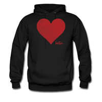 HELLO-LOVE-RED-HEART_hoodie sweatshirt tshirt