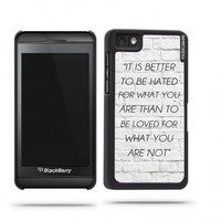 Quote - It Is Better To Be Hated For What You Are White Bricks Blackberry Z10 Case - For Blackberry Z10