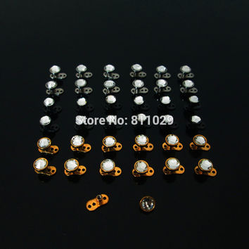 free shipping Brand New 30pcs 16G gem CRYSTAL micro Dermal Anchors Skin body Surface piercing retainers hide it jewelry NICE