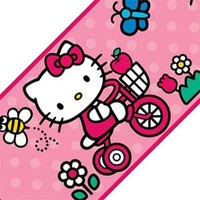 Hello Kitty World Tricycle Self Stick Accent Wall Border