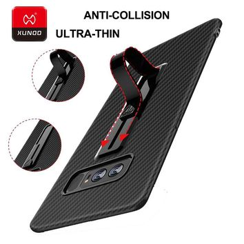 Ultra thin New For Samsung Galaxy Note8 ring buckle phone Case For S8 Plus bracket TPU Silicone 360 Protected Full Cover Case