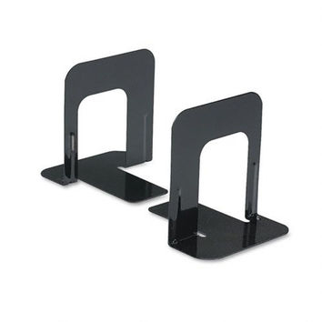 Economy Bookends Standard 4 3/4 x 5 1/4 x 5 Heavy Gauge Steel Black - Sold as...