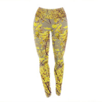 "Ingrid Beddoes ""Autumn Yellow"" Yoga Leggings"