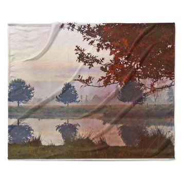 "Pellerina Design ""Magic Morning"" Red Nature Fleece Throw Blanket"