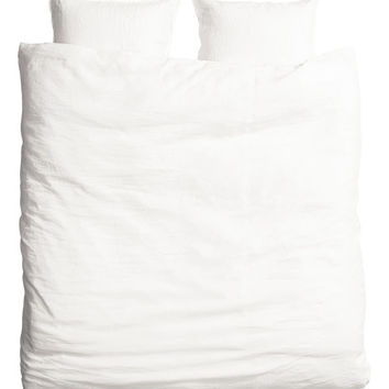 Washed Linen Duvet Cover Set - from H&M