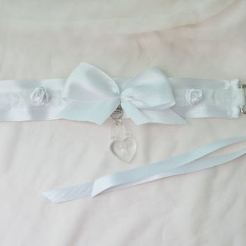 Snow White Collar - Kitten play collar