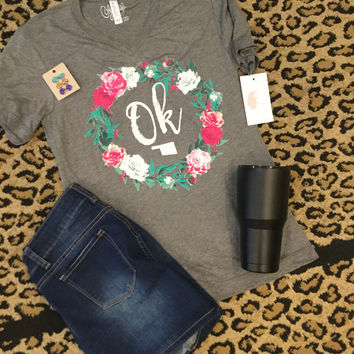 OK Floral Wreath Calamity t-shirt
