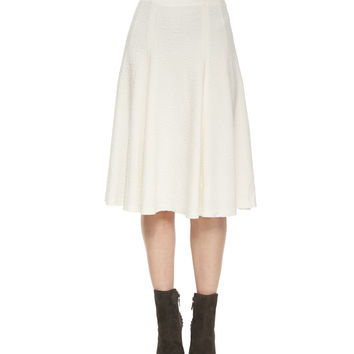Kimi Hammered Crepe A-Line Skirt, Size: