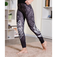 Floral Print Yoga Sports Hip Up Leggings