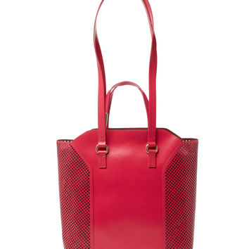 Foley & Corinna Women's Clio Laser-Cut Leather Tote - Red
