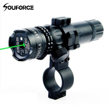 Tactical Range 300m Metal Green Laser Dot Sight with 20mm Rail Mount Gun Accessory For Rifle Airsoft Hunting