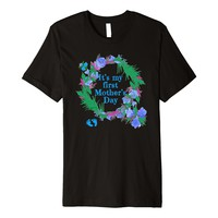 FIRST MOTHERS DAY T-shirt Gender Reveal BOY