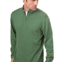 Southern Tide Blue Ridge Reversible 1/4 zip Pullover - Willow Grey