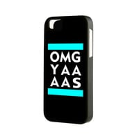 Black OMG YAAAS iPhone 6 Plus 6 5S 5 5C 4 Rubber Case