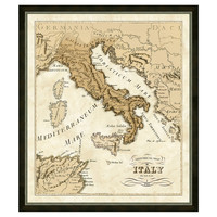 One Kings Lane - Family Roots - Italy Map