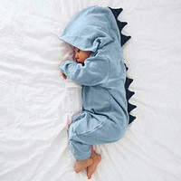 MUQGEW baby clothes Newborn Baby dinosaur Infant Baby Boy Girl Dinosaur Hooded Romper Jumpsuit Outfits Clothes winter clothes