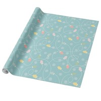 Cute Mittens and Snowflakes Wrapping Paper