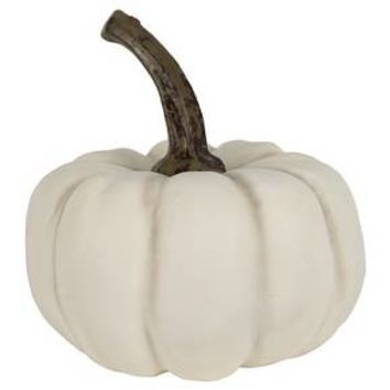 3 packs of 1 Faux Round Pumpkin White - Bullseye's Playground™