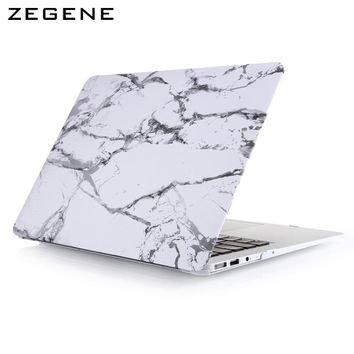 New Cool Fashion Marble Texture Matte Case Funda Cover For Macbook Air Pro Retina 11 12 13 15 inch Protector Skins Laptop Bag