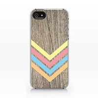 Aztec Woodprint Slim Iphone 5 Case, Iphone 5S Case Plastic Case Cover Iphone 5/5S-Emerishop (MAD082)