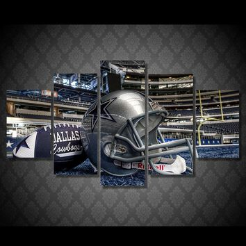NFL Dallas Cowboys Helmet Football Game Wall Art Picture Canvas Picture Print