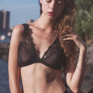 Emma Lace Inlay Bralette in Black (32D-32DD/E, 34B-D, 36B-D) 🌟LAST CHANCE🌟