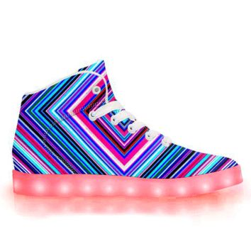 Illusions - APP Controlled High Top LED Shoes