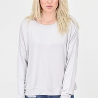 Lightweight French Terry Sweatshirt {L. Grey}