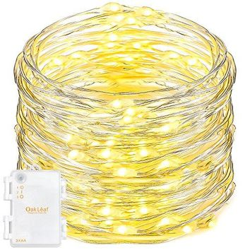 String Lights,9.8ft 60LEDs Led Fairy Starry Light Silver Wire Decorative Rope Lights for Bedroom Party Wedding Home DIY,Batteries Powered,Timer Function