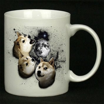 Three Doge Moon For Ceramic Mugs Coffee *