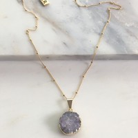 Circle Of Trust Druzy Necklace