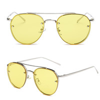 Fashion Gold Retro Cat Eye Sunglasses Oversized Designer Vintage