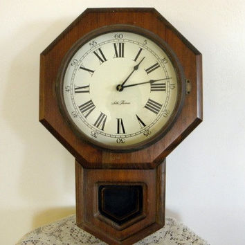 Vintage Seth Thomas School House Clock