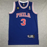 Men's Philadelphia 76ers Allen Iverson 10th Throwback Swingman Jersey - Best Deal Online