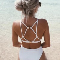 Derby Structured High Waist Bikini Set