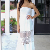 Legacy of Lace Maxi  - Ivory