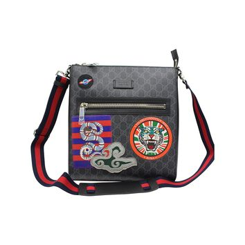 GUCCI Men's Night Courrier GG Supreme Messenger