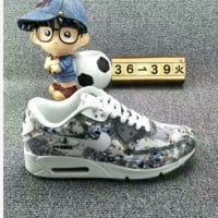 NIKE AIR MAX Sakura Low tops shoes force sports shoes Grey Print